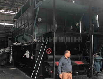 25tph SZL coal-fired steam boiler for paper mill